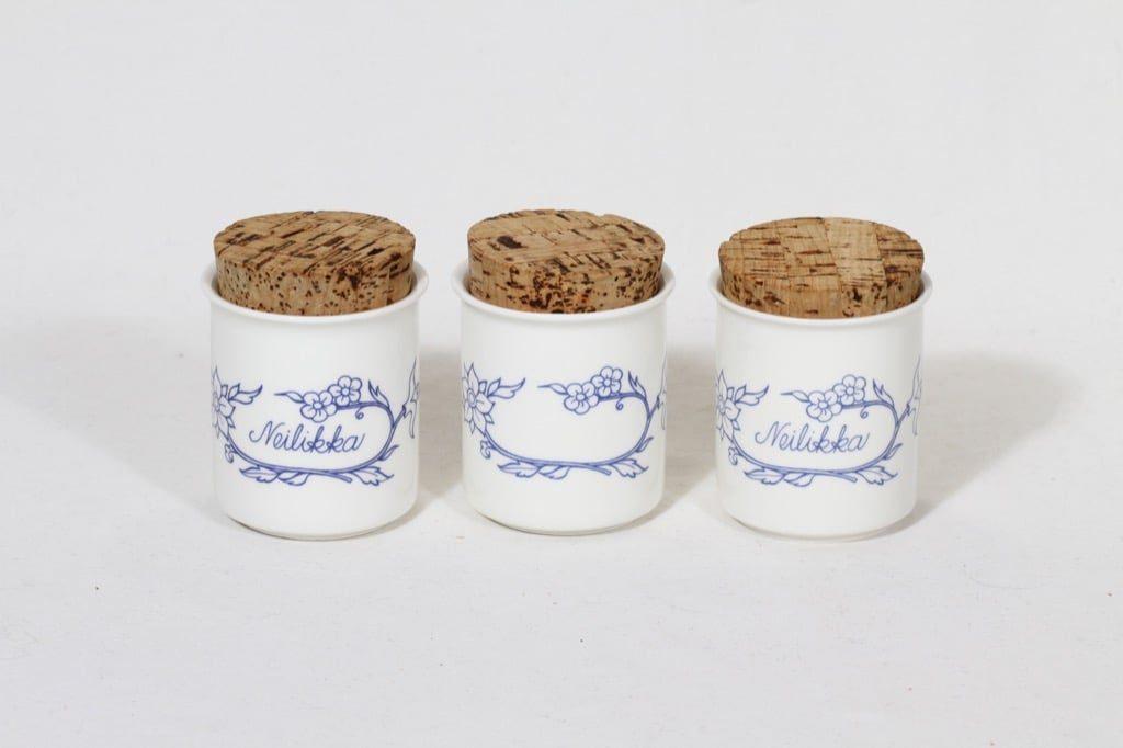 Arabia Sininen keittiö spice jars, white, 4 pcs