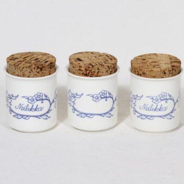 Arabia Sininen keittiö maustepurkit, valkoinen, 4 kpl, suunnittelija ,