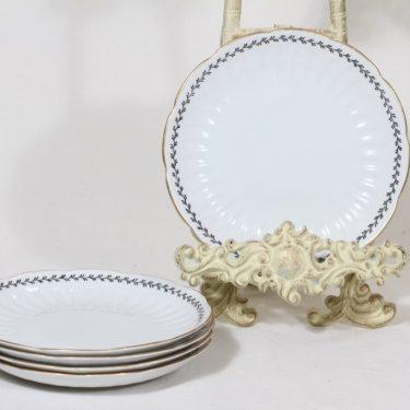 Arabia Varpu lautaset, 5 kpl, suunnittelija Raija Uosikkinen, pieni, ornamenttikoriste