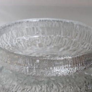 Iittala Lunaria kulho, kirkas, suunnittelija Tapio Wirkkala, massiivinen, suuri