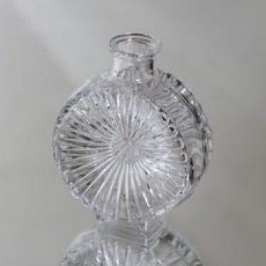 Riihimäen lasi Aurinkopullo koristepullo, kirkas, suunnittelija Helena Tynell, pieni