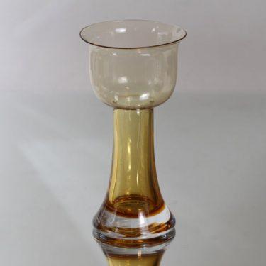 Riihimäki glass Lootus vase, amber, Nanny Still