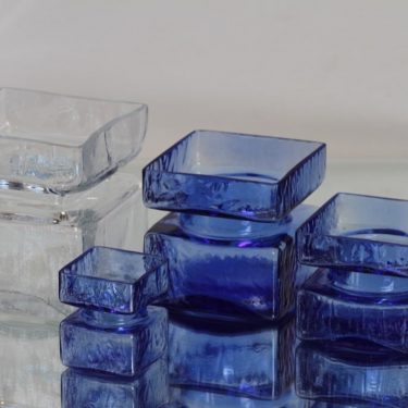 Riihimäen lasi Pala maljakot, eri kokoja, 4 kpl, suunnittelija Helena Tynell, eri kokoja