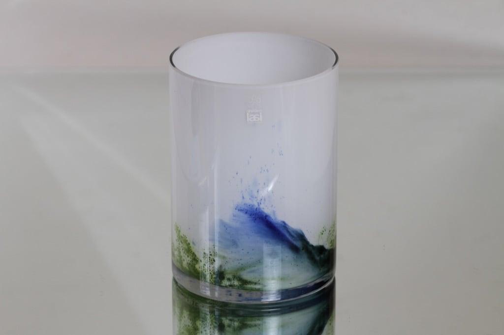 Riihimäki glass Koralli vase, colourful, Tamara Aladin
