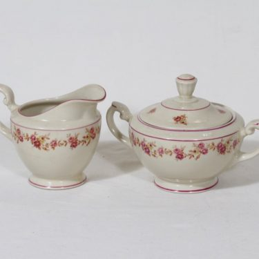 Arabia Anneli sugar bowl and creamer, Olga Osol
