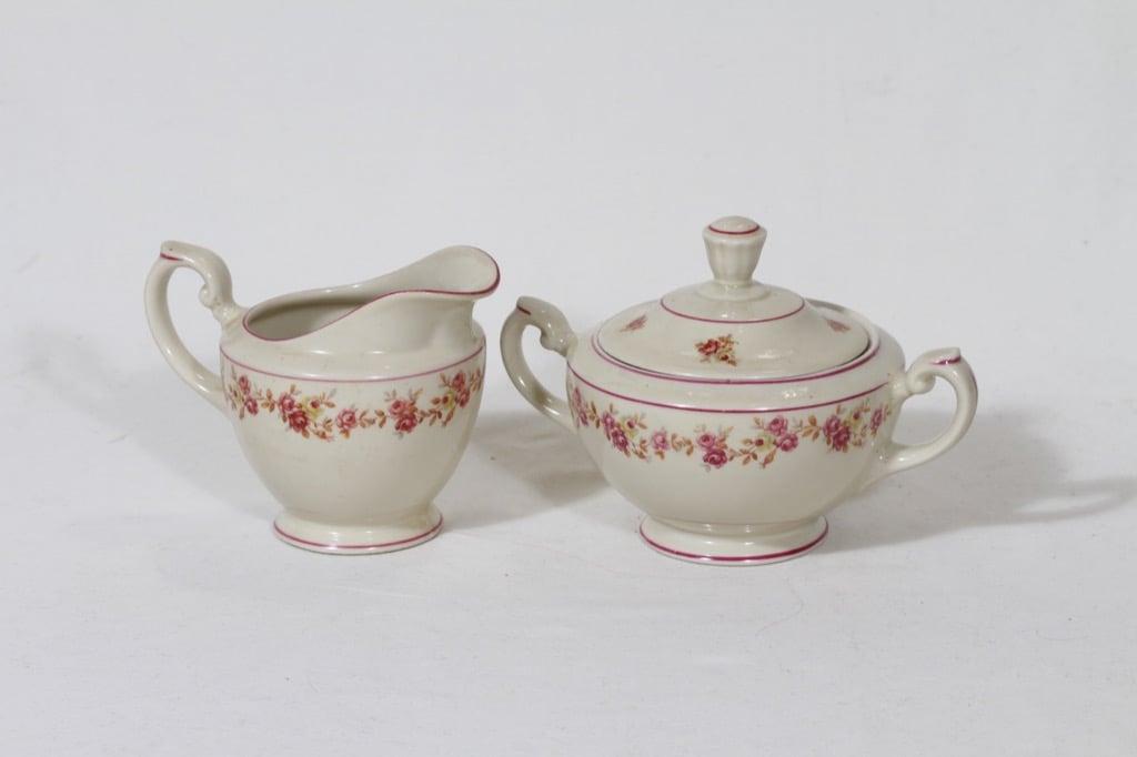 Arabia Anneli sugar bowl and creamer, Olga Osol