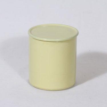 Arabia Kilta purnukka, keltainen lasite, suunnittelija Kaj Franck, serikuva
