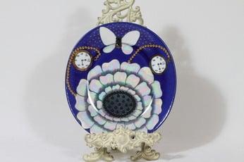 Arabia Florence koristelautanen, käsinmaalattu, suunnittelija Birger Kaipiainen, käsinmaalattu, signeerattu, helmi- ja lysterikoriste