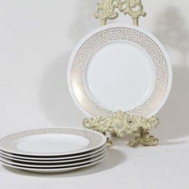 Arabia Kimmel lautaset, pieni, 6 kpl, suunnittelija Esteri Tomula, pieni, serikuva