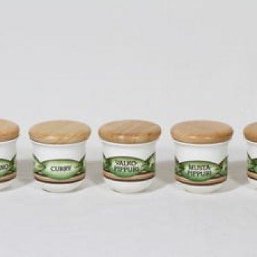 Arabia Arctica maustepurkit, 5 kpl, suunnittelija , serikuva