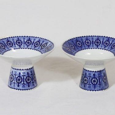 Arabia Antica kynttilänjalat, 2 kpl, suunnittelija Raija Uosikkinen, kuparipainokoriste
