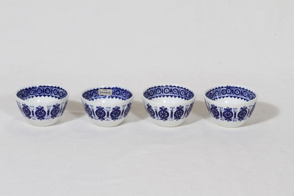Arabia Antica kynttilänjalat, 4 kpl, suunnittelija Raija Uosikkinen, pieni, kuparipainokoriste