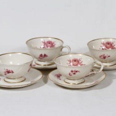 Arabia Regina teekupit, 4 kpl, suunnittelija Svea Granlund, siirtokuva
