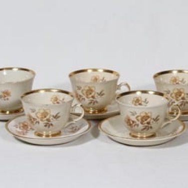 Arabia Myrna kahvikupit, 5 kpl, suunnittelija Olga Osol, siirtokuva