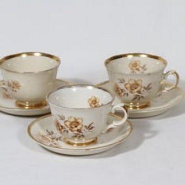 Arabia Myrna kahvikupit, 3 kpl, suunnittelija Olga Osol, siirtokuva