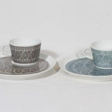 Arabia Susan erikoiskupit, harmaa|sininen, 2 kpl, suunnittelija , serikuva