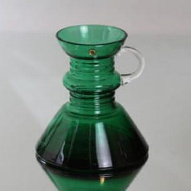 Riihimäen lasi Kleopatra maljakko, vihreä, suunnittelija Tamara Aladin, pieni