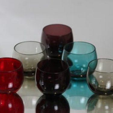 Nuutajärvi Marja lasit, 5 cl, 4 kpl, suunnittelija Saara Hopea, 5 cl, pieni