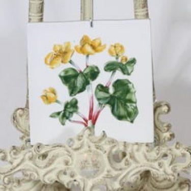Arabia Niittykukka koristelaatta, käsinmaalattu, suunnittelija Svea Granlund, käsinmaalattu, pieni, signeerattu
