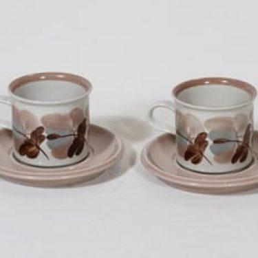 Arabia Koralli kahvikupit, rosa, 2 kpl, suunnittelija Raija Uosikkinen,