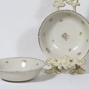 Arabia Rosita kulhot, 2 kpl, suunnittelija Svea Granlund, siirtokuva, kultakoriste