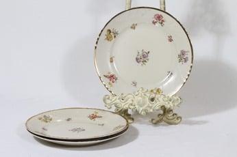 Arabia Rosita lautaset, pieni, 3 kpl, suunnittelija Svea Granlund, pieni, siirtokuva, kultakoriste