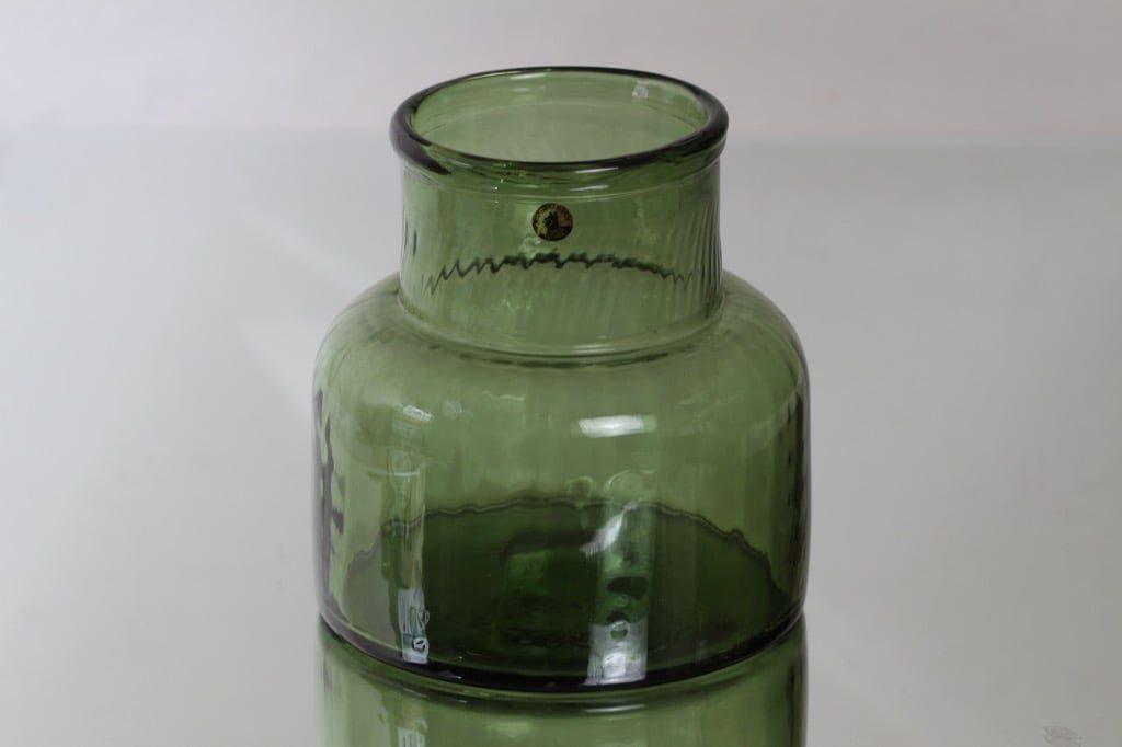Riihimäen lasi Neptuna tölkki, vihreä, suunnittelija Nanny Still, suuri