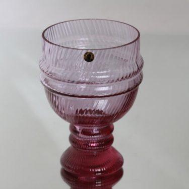 Riihimäen lasi Sulttaani malja, ametisti, suunnittelija Nanny Still,