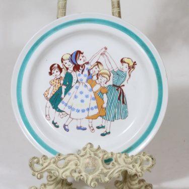 Arabia Tytöt lasten lautanen, suunnittelija , siirtokuva