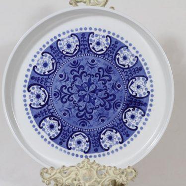 Arabia Ali paistivati, sininen, suunnittelija Raija Uosikkinen, suuri, kuparipainokoriste