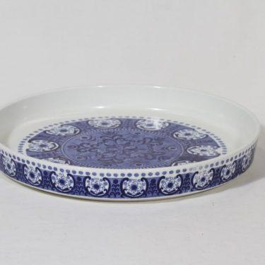 Arabia Ali paistivati, sininen, suunnittelija Raija Uosikkinen, suuri, kuparipainokoriste kuva 3