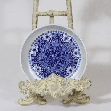 Arabia Ali salaattiastia, sininen, suunnittelija Raija Uosikkinen, pieni, kuparipainokoriste