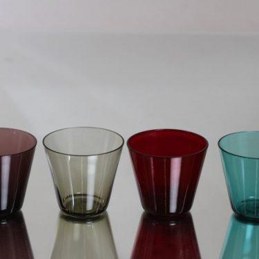Nuutajärvi Kartio lasit, 13 cl, 4 kpl, suunnittelija Kaj Franck, 13 cl