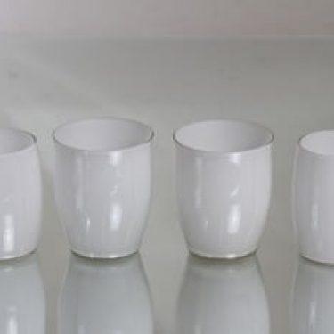 Iittala Maitolasi lasit, eri kokoja, 4 kpl, suunnittelija Maire Gullichsen, eri kokoja