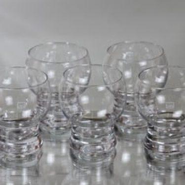 Riihimäen lasi Old King Cole boolilasit, 15 cl, 5 kpl, suunnittelija Erkkitapio Siiroinen, 15 cl