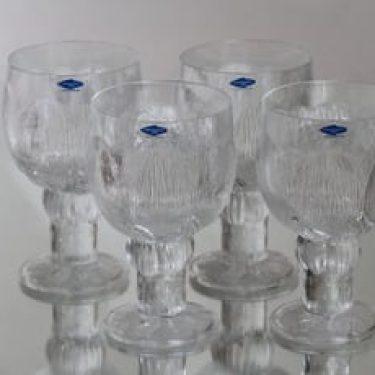 Nuutajärvi Pioni lasit, 35 cl, 4 kpl, suunnittelija Oiva Toikka, 35 cl