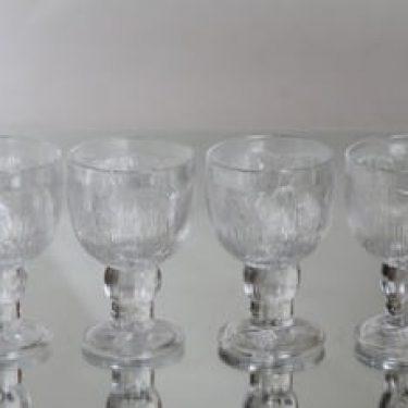 Nuutajärvi Pioni lasit, 20 cl, 4 kpl, suunnittelija Oiva Toikka, 20 cl