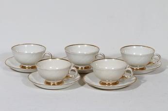 Arabia Kultakoriste kahvikupit, 5 kpl, suunnittelija , kultaraita