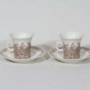 Arabia Veronica kahvikupit, 2 kpl, suunnittelija Inkeri Leivo, serikuva