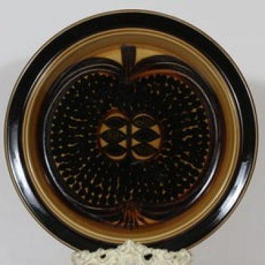 Arabia Fructus vati, käsinmaalattu, suunnittelija Gunvor Olin-Grönqvist, käsinmaalattu, suuri, signeerattu, retro