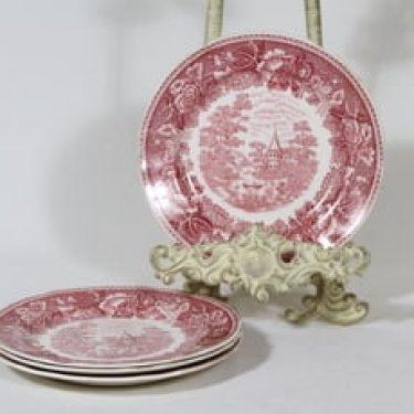 Arabia Maisema lautaset, pieni, 4 kpl, suunnittelija , pieni, kuparipainokoriste