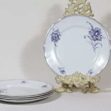 Arabia kukkakuvio lautaset, matala, 5 kpl, suunnittelija , matala, serikuva, matala