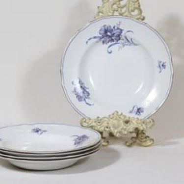 Arabia kukkakuvio lautaset, syvä, 5 kpl, suunnittelija , syvä, serikuva, syvä