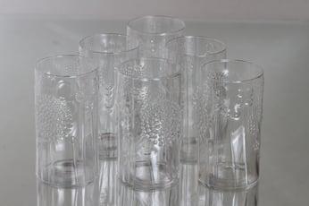 Nuutajärvi Flora lasit, 30 cl, 6 kpl, suunnittelija Oiva Toikka, 30 cl