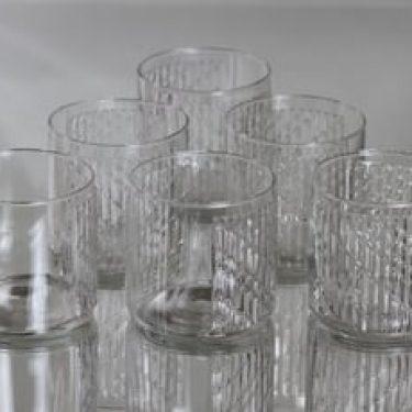 Riihimäen lasi Flindari lasit, 20 cl, 6 kpl, suunnittelija Nanny Still, 20 cl