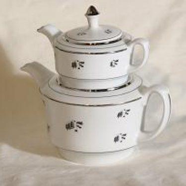 Arabia Hopeakello teekannu, 2-osainen, suunnittelija , 2-osainen