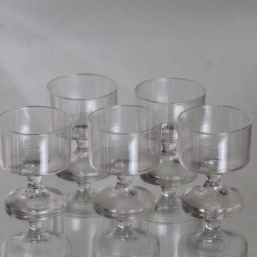 Iittala Karelia lasit, 8 cl, 5 kpl, suunnittelija Tapio Wirkkala, 8 cl