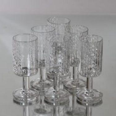 Riihimäen lasi Flindari lasit, 7 cl, 6 kpl, suunnittelija Nanny Still, 7 cl