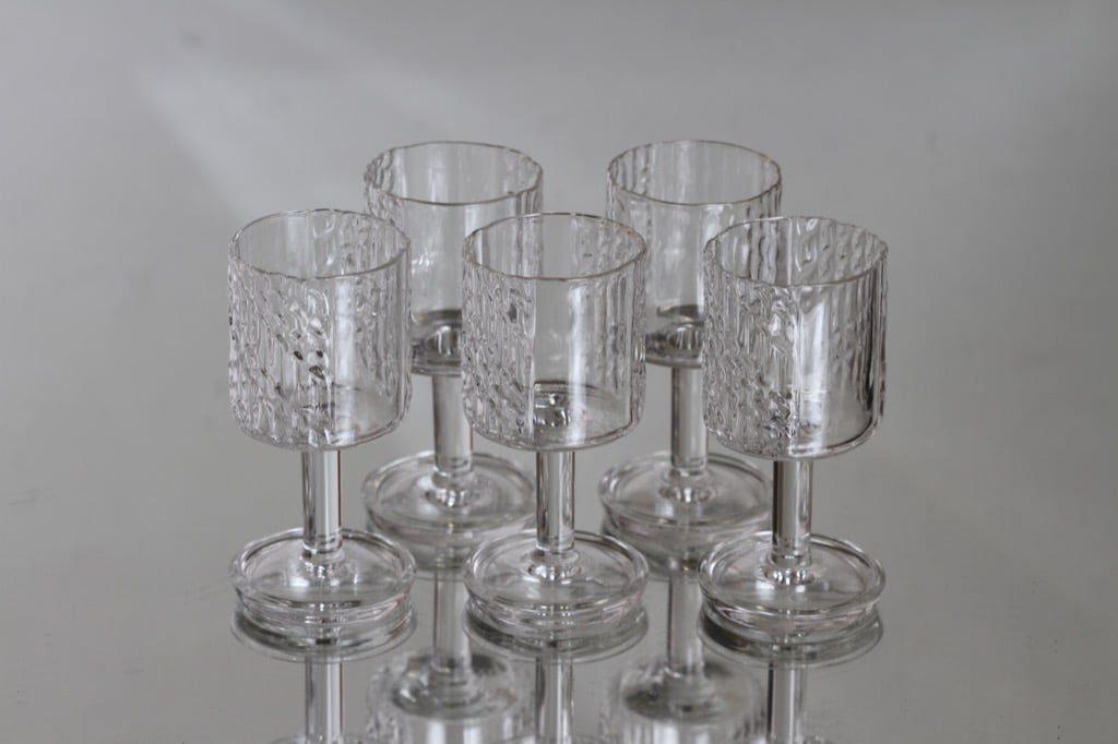 Riihimäen lasi Flindari lasit, kirkas, 5 kpl, suunnittelija Nanny Still, pieni