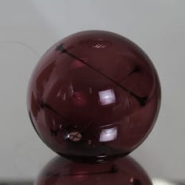 Iittala Aurinkopallo koriste-esine, signeerattu, suunnittelija Timo Sarpaneva, signeerattu